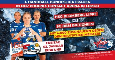Winterball-Spiel der HSG  vorverlegt