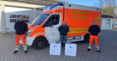 Überraschende Spende – Schutzmasken und Schutzanzüge für den Rettungsdienst Detmold