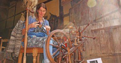 Flachstage im Freilichtmuseum Detmold